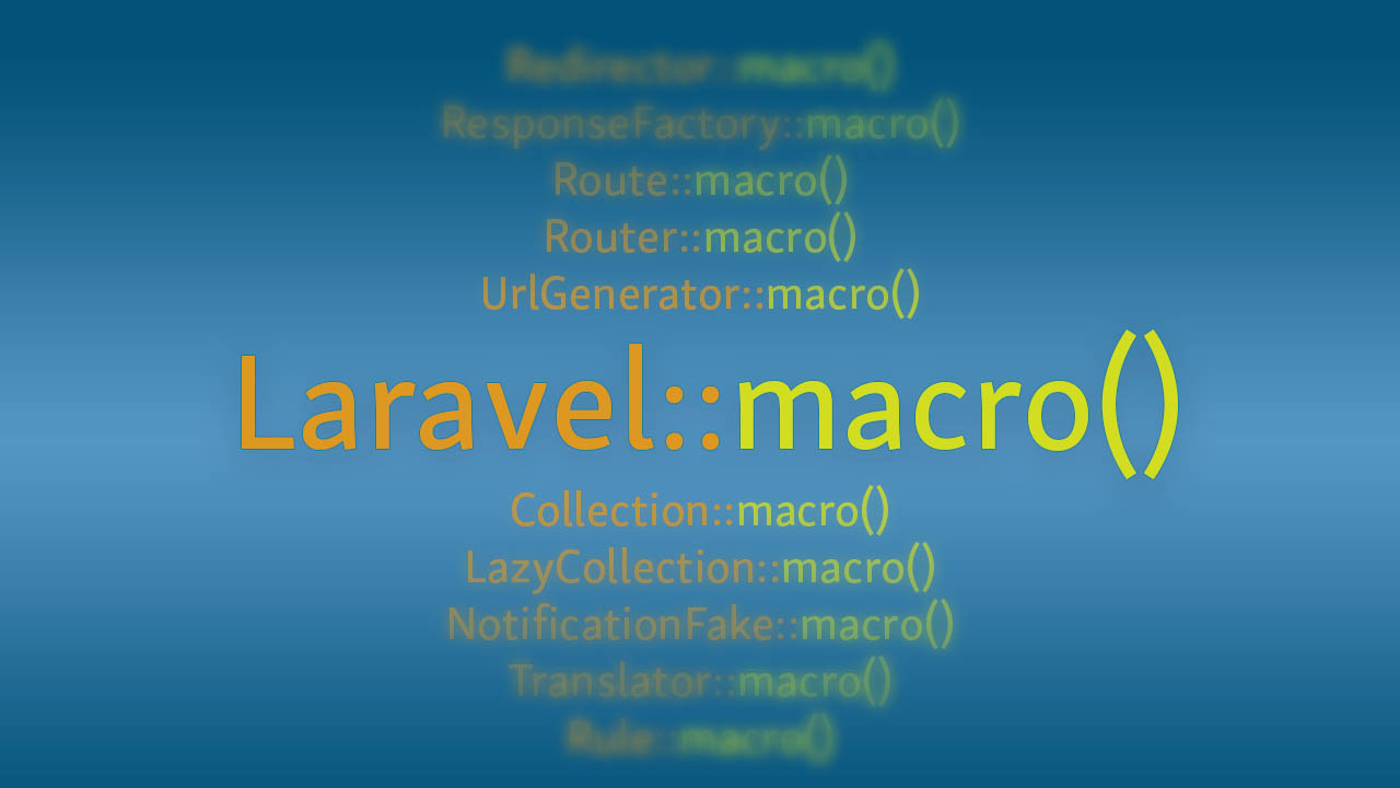 The macro trait allows you to add functionality to many Laravel classes. Here's a list of all of them.